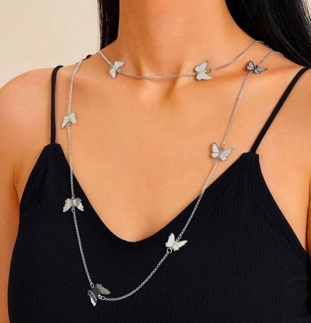LAS MARIPOSAS NECKLACE - SILVER