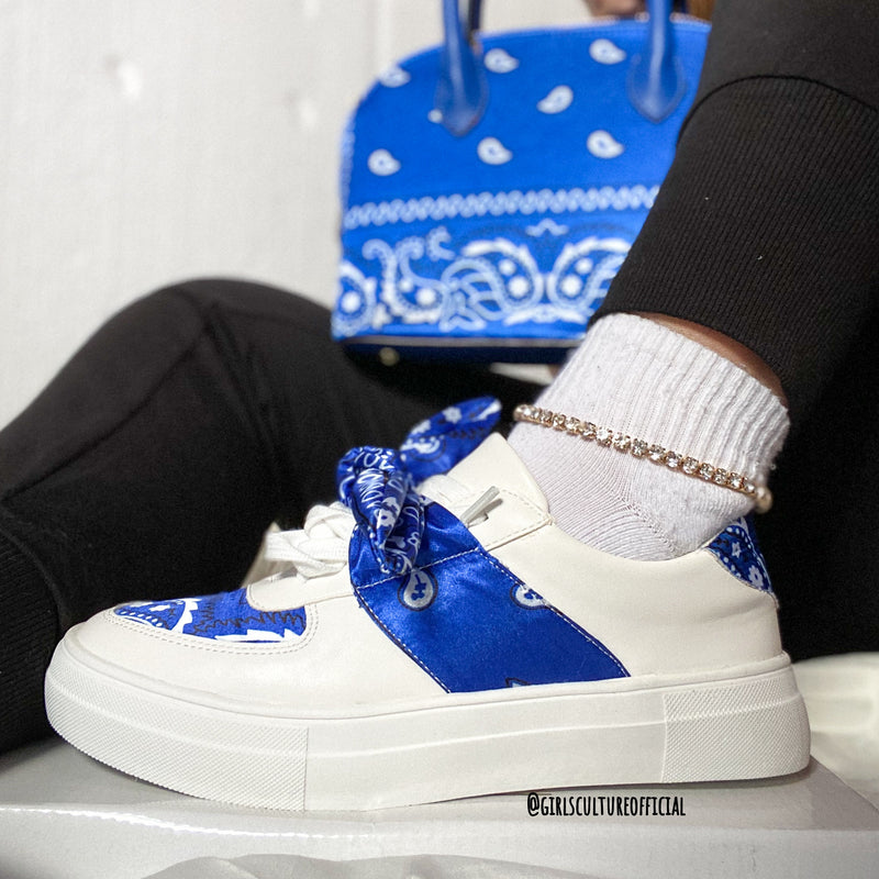 FRESH BADDEST KICKS - BLUE BANDANA