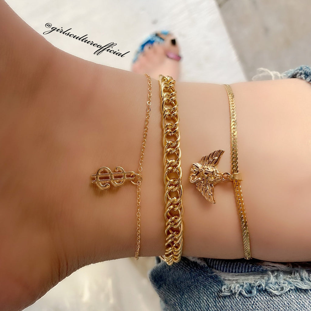 CANT BUY GOOD ANKLE - GOLD