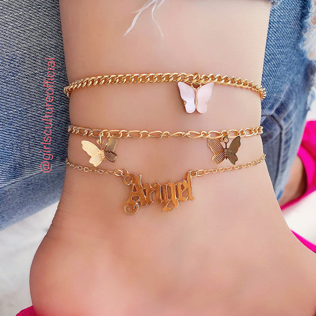 ANGEL BABY ANKLE - GOLD