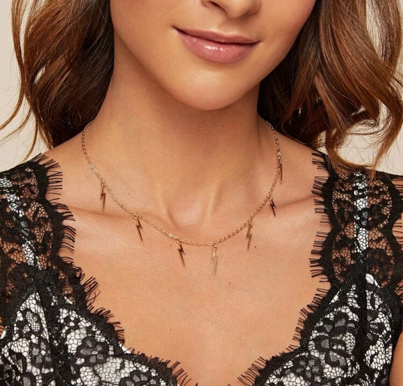 SHING FROM ABOVE NECKLACE - GOLD