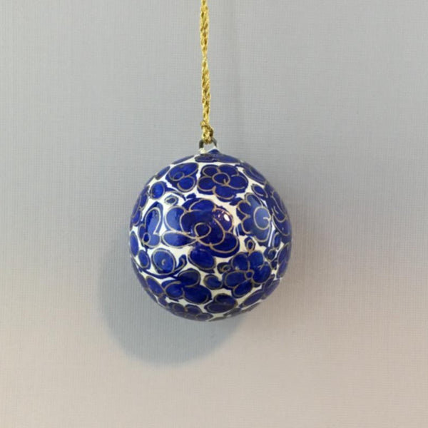 "Ball Ornament 1.75"" ~ Hand Painted Kashmir Art"