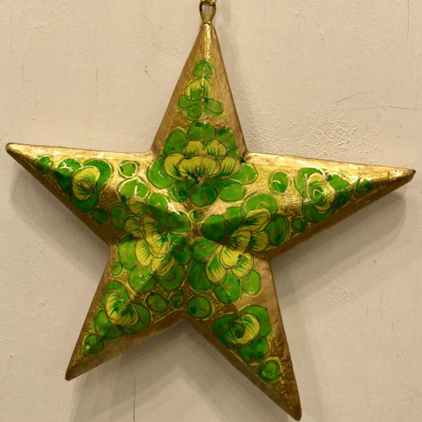 "5"" Star Ornament ~ Hand Painted Kashmir Art"