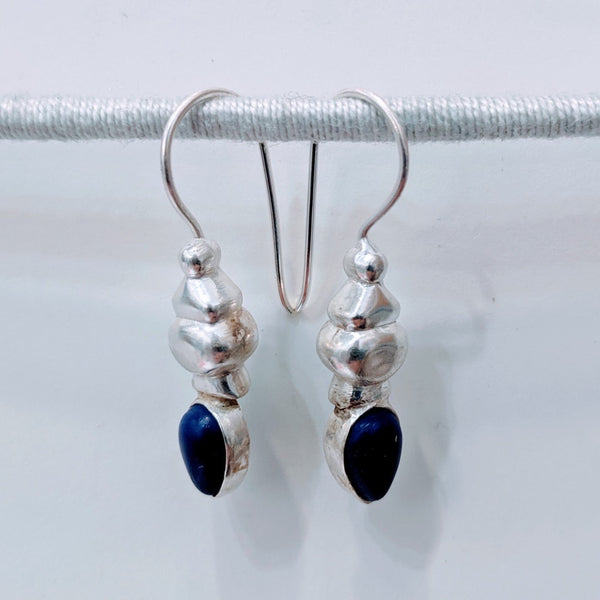 Lapis Drop ~ Gold or Silver