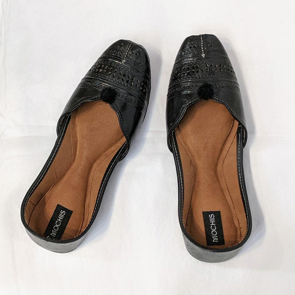 Leather Ballet Flats ~ Black