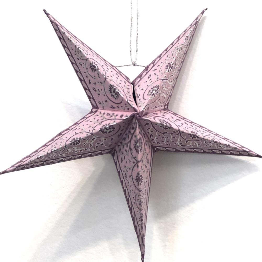 Folded Paper Hanging Star Ornament