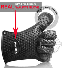 HEAT RESISTANT SILICONE BBQ GLOVES