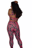 Pink snake skin tight set