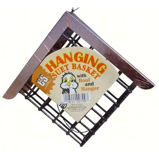 Suet Basket with Copper Roof - lovethebirds