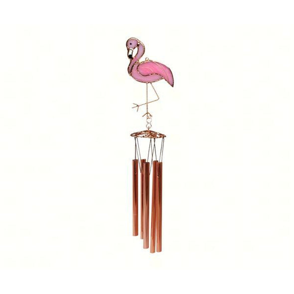 Hand-crafted Flamingo Wind Chime - lovethebirds
