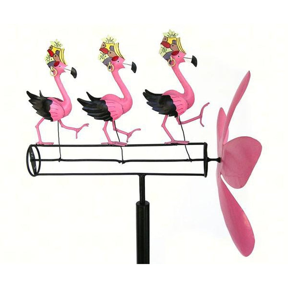 Dancing Flamingo Whirligig - lovethebirds
