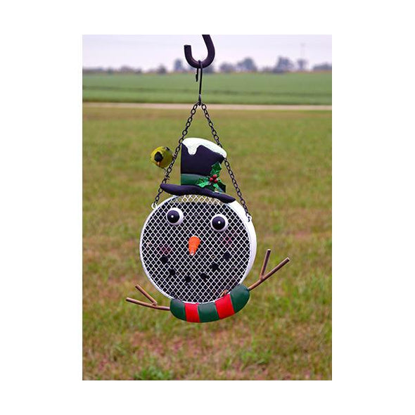 Snowman Mesh Feeder - lovethebirds
