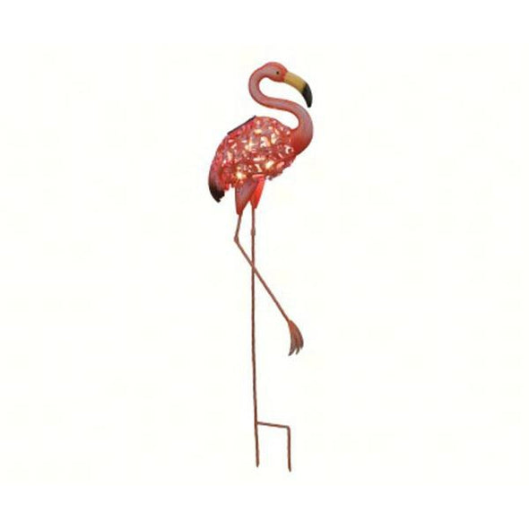 Solar Flamingo Stake - lovethebirds