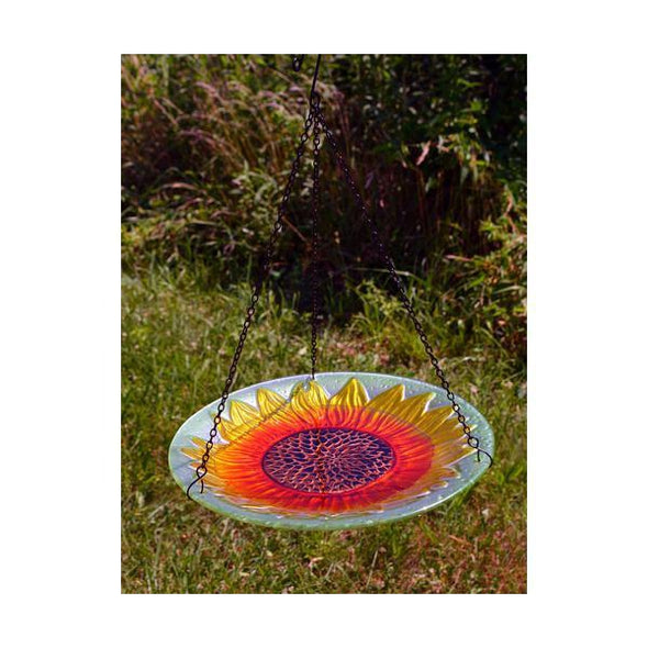 Sunflower Hanging Bird Bath - lovethebirds