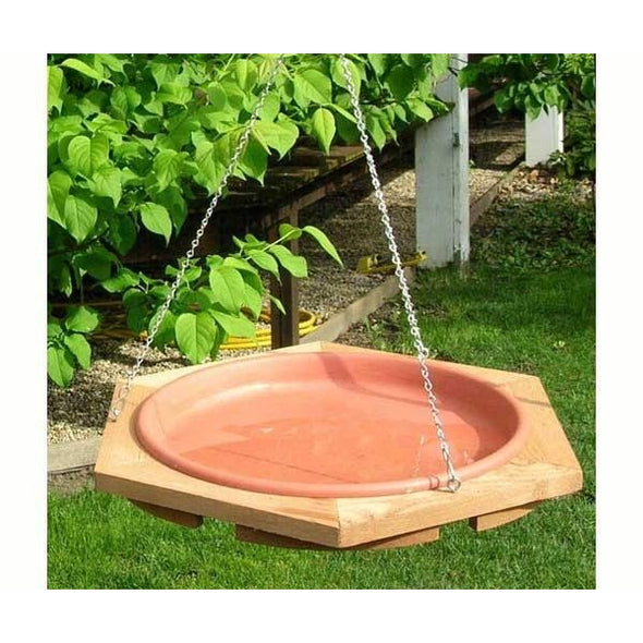 17 inch Hanging Bird Bath - lovethebirds