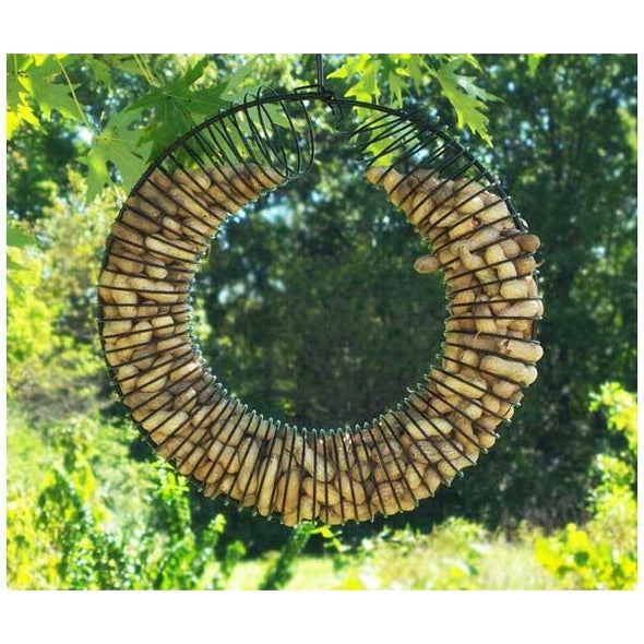 Whole Peanut Wreath Ring - lovethebirds