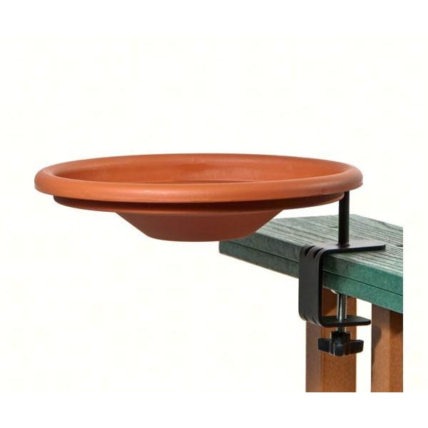 Deck Mount Bird Bath - lovethebirds