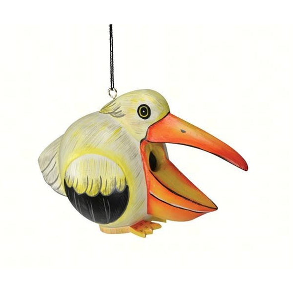 White Pelican Gord-O Bird House-lovethebirds