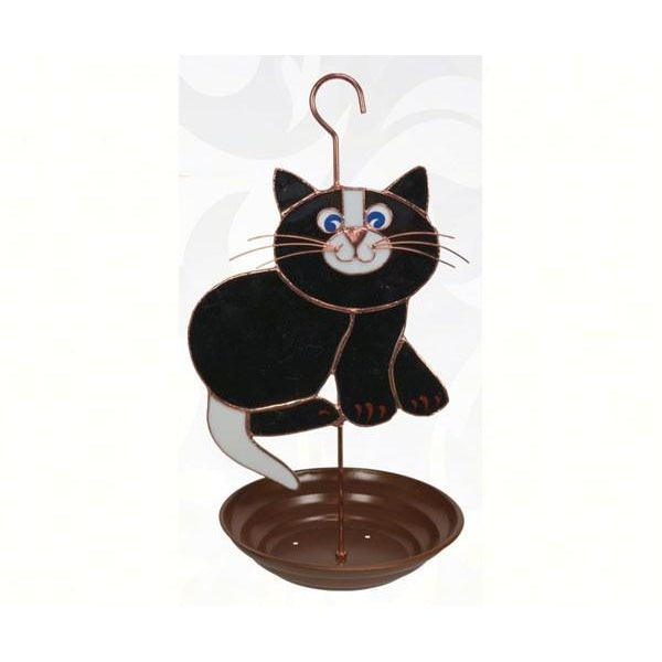 Black Cat Bird Feeder-lovethebirds