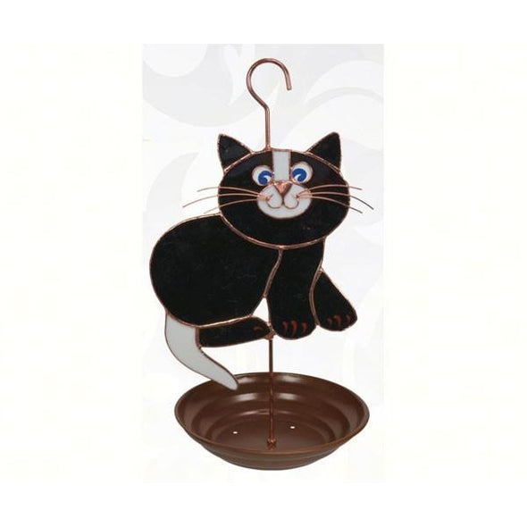 Black Cat Bird Feeder - lovethebirds