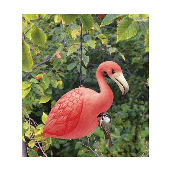 Flamingo Wooden Bird House - lovethebirds