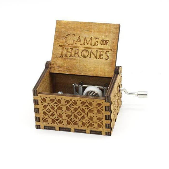 Antique Wooden Hand Crank Music Box (Harry Potter Game Of Thrones Star Wars) - Game Of Thrones Brown