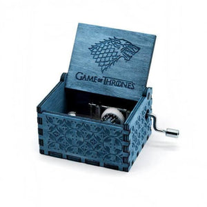 Antique Wooden Hand Crank Music Box (Harry Potter Game Of Thrones Star Wars) - Game Of Thrones Type2 Blue