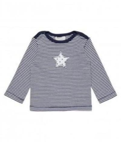Baby Shirt long-sleeved striped, Luna in Organic Cotton
