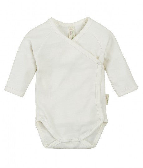 Baby Tiebody longsleeves natural Ygon in Organic Cotton