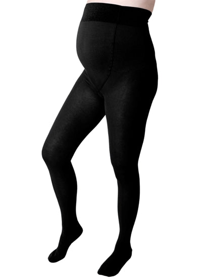 Elle - Black Wool Maternity Tights