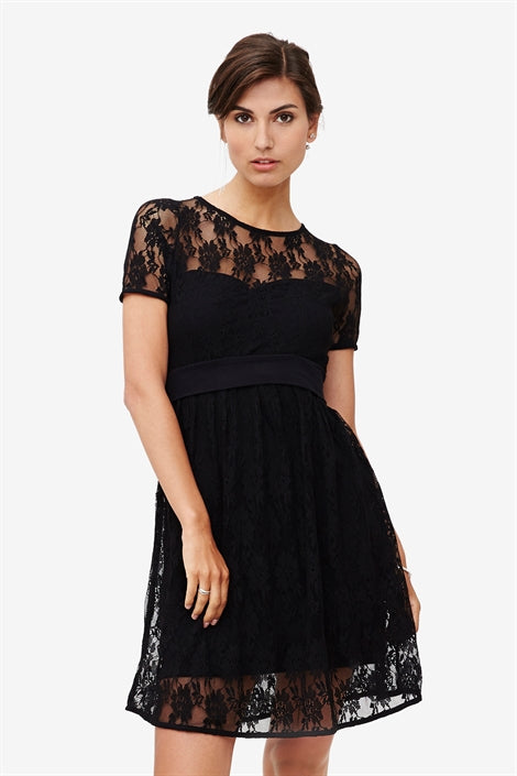 Zissi - Black lace nursing dress with underdress