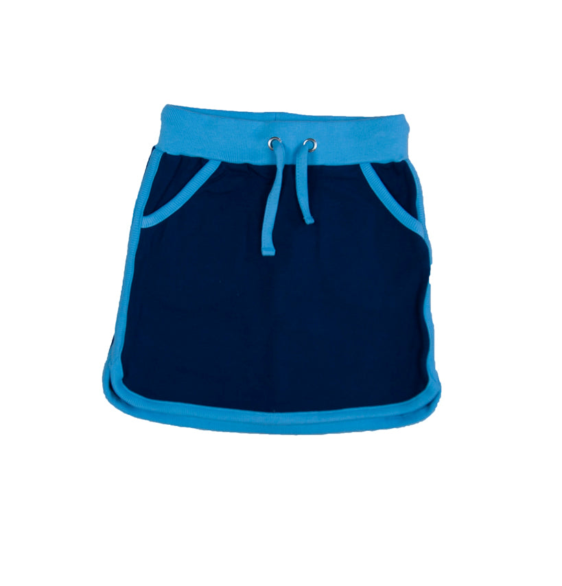 Blue/Light Blue - Retro Running Skirt