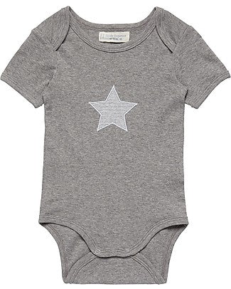 Baby Body suit with big star, Yvon in Organic Cotton