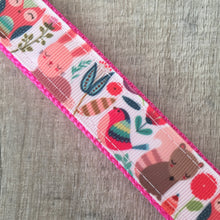 Dog Collar - Forest Animals with Metal Buckle - Size Large