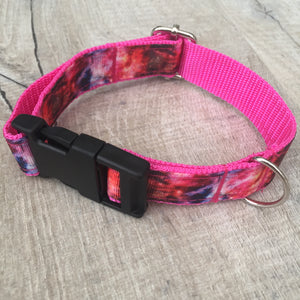 Dog Collar - Galaxy with Black Plastic Buckle - Size Medium
