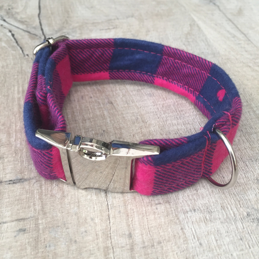Dog Collar - Cupid with Metal Buckle - Size Medium