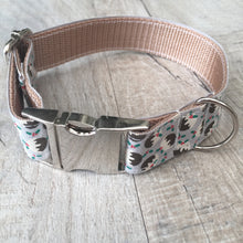 Dog Collar - Christmas Pudding with Metal Buckle - Size Small