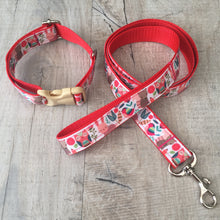 Dog Collar and Lead Set - Woodland Animals