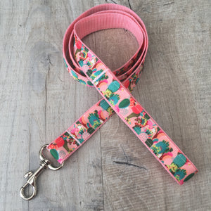 Dog Lead - Pink Cactus