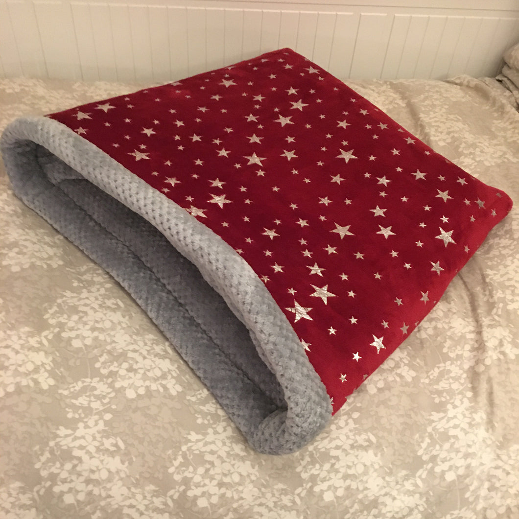 Dog Bed - Stars with Grey Fleece