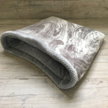 Dog Bed - Marble with Grey Fleece