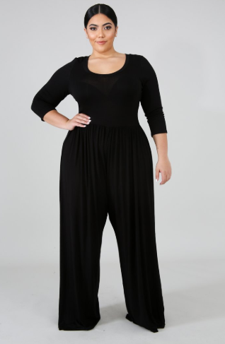 Feather Plus Size Jumpsuit