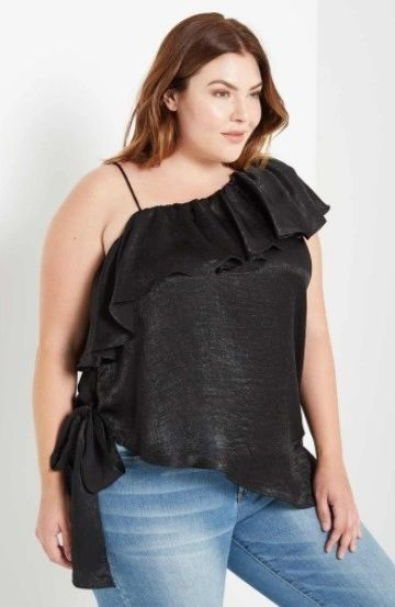 One Shoulder Ruffled Cami