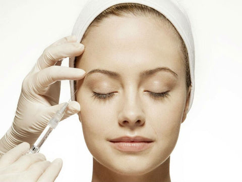 Botox treatments or microcurrent facial for lifting and toning