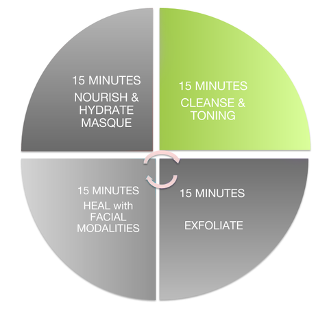 Cleansing, facial time wheel, cleansing technique, cleansing tips, skin care pro