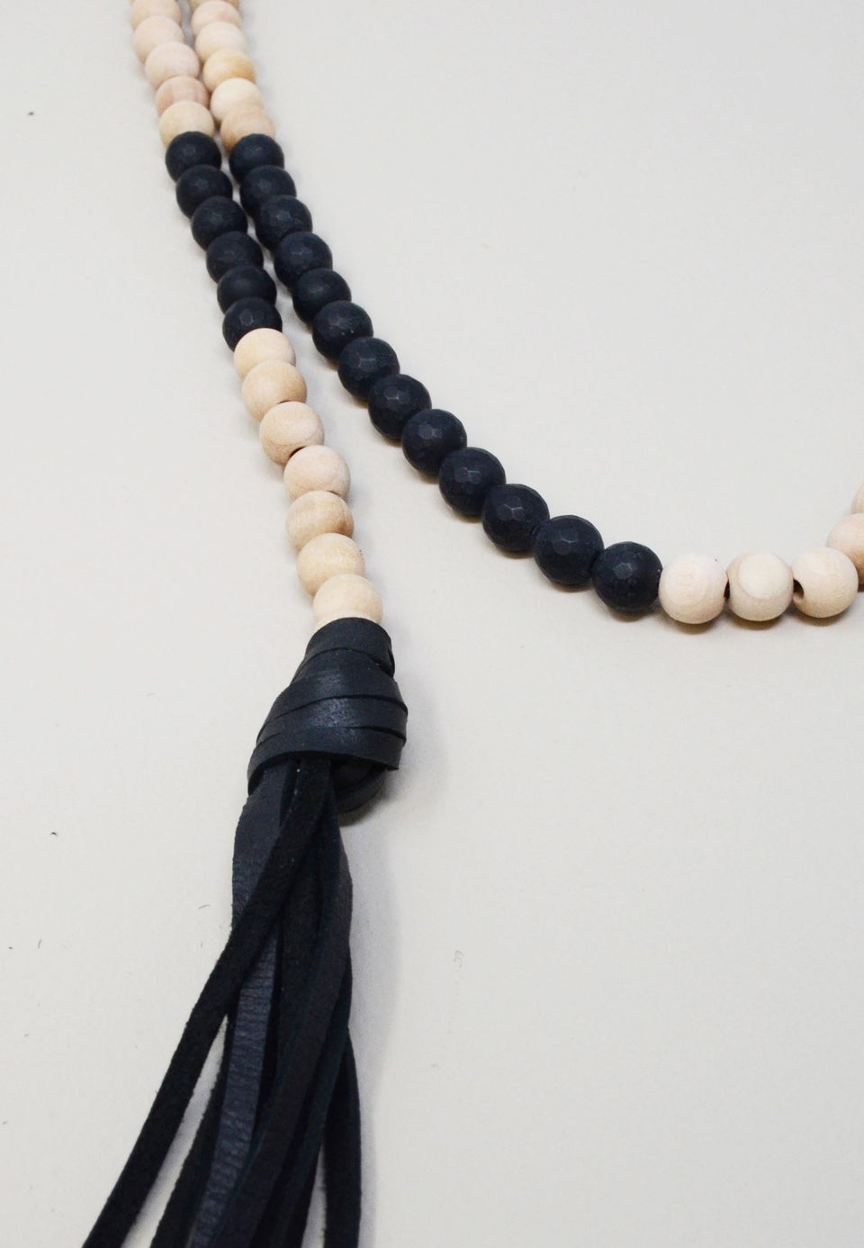 Matte Onyx Wood Lariat - ANTHER a shop