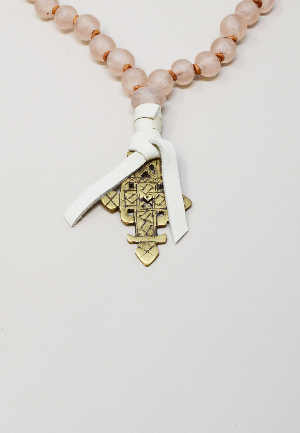 Blush African Glass Necklace - ANTHER a shop