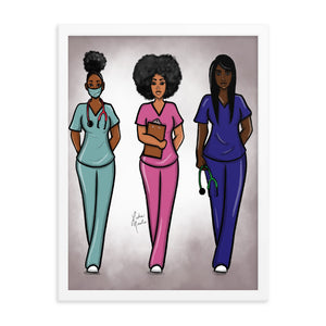 Angels In Scrubs - Framed poster