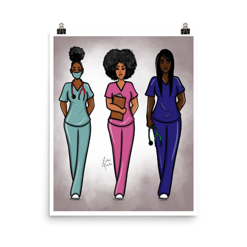 Angels In Scrubs Poster