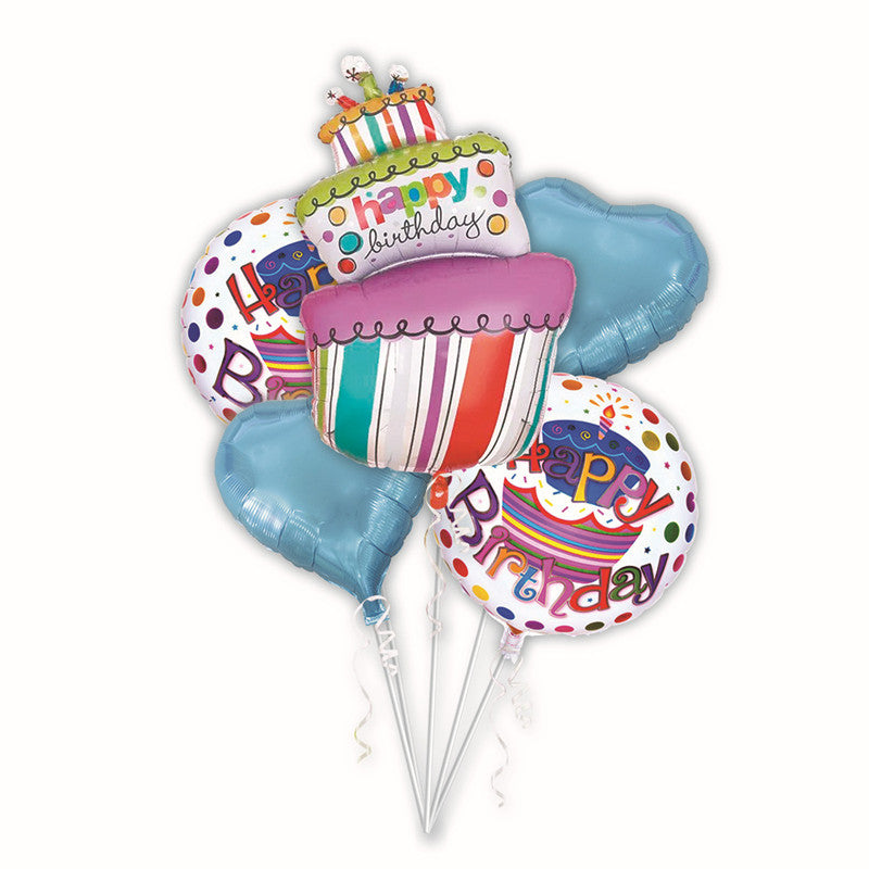 5pcs Birthday  foil balloons